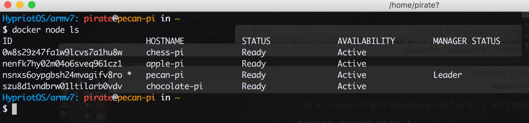 docker node ls